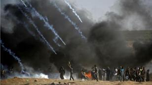 احتجاجات على حدود غزة وإسرائيل 14 أيار/مايو 2018.