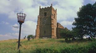 L'ancienne église de Walesby, dans le comté de Nottinghamshire, au centre de l'Angleterre ; également connue sous le nom d'église des randonneur.