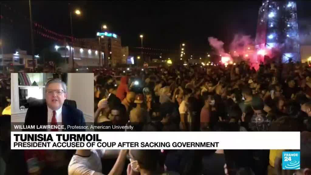 2021-07-26 22:00 Tunisia's fledgling democracy in turmoil as president ousts government, freezes parliament