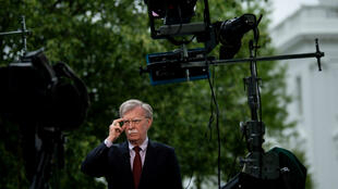 Le conseiller américain à la sécurité nationale, John Bolton, lors d'une conférence de presse, le 1er mai 2019, à Washington, DC.