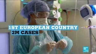 2020-11-18 17:09 Coronavirus pandemic: France becomes first European country to top 2 million cases