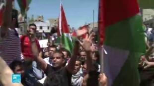 مظاهرات في دول عربية  داعمة للفلسطينيين