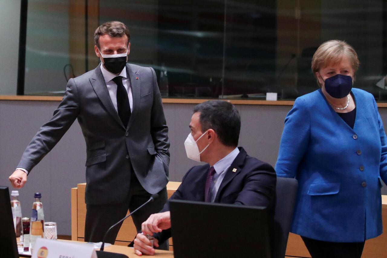 EU summit Macron Sanchez Merkel