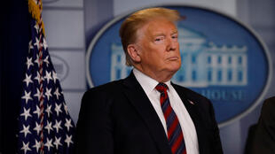 Archivo: El presidente Donald Trump habla a los periodistas sobre seguridad fronteriza en la sala de reuniones informativas en la Casa Blanca en Washington, EE. UU., el 3 de enero de 2019.