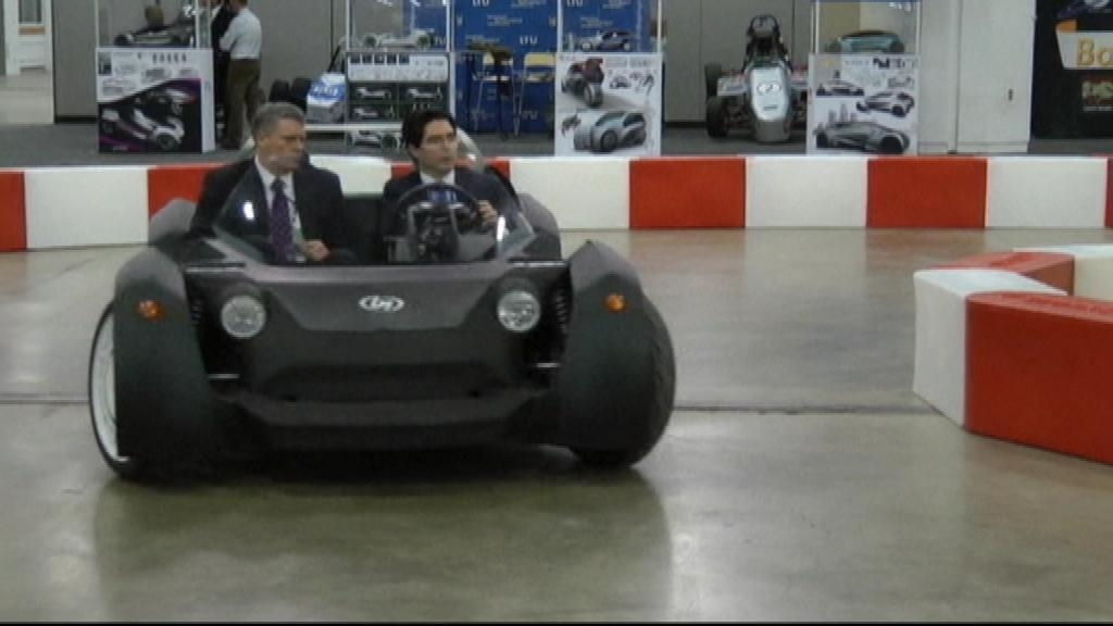 Print, then drive: The world's first 3-D printed car