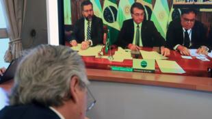 Reunión Fernández y Bolsonaro