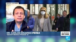 El médico infectólogo Carlos Eduardo Pérez recomienda no llevar la mascarilla al momento de hacer ejercicio al aire libre.