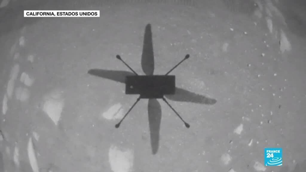 2021-04-19 19:09 La NASA logra con éxito el primer vuelo sobre la superficie de Marte