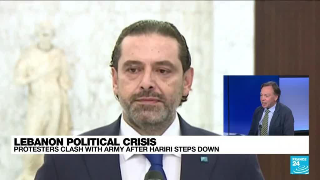 2021-07-16 14:10 Lebanese protesters clash with army after Hariri steps down