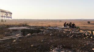 Des Israéliens sur le plateau du Golan, le 23 juillet 2018.