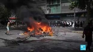 2019-10-24 16:13 Protests in Chile continue for sixth consecutive day
