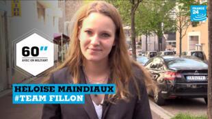 Héloïse Maindiaux, 23 ans, soutient François Fillon pour la présidentielle.