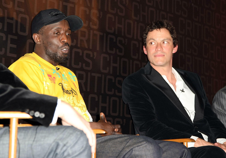Gli attori Michael K. Williams (a sinistra) e Dominic West a New York il 5 marzo 2008