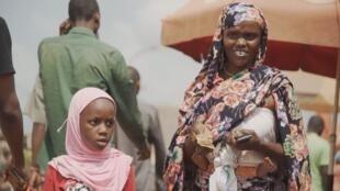 Scène de marché à Bangui en Centrafrique.