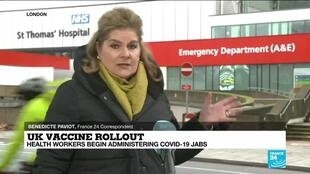 2020-12-08 10:01 UK vaccine rollout: Health workers begin administering Covid-19 jabs