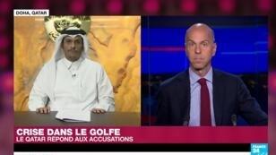 Le ministre des Affaires étrangères du Qatar, Mohammed ben Abdulrahman ben Jassim al-Thani, en direct depuis Doha avec Marc Perelman.