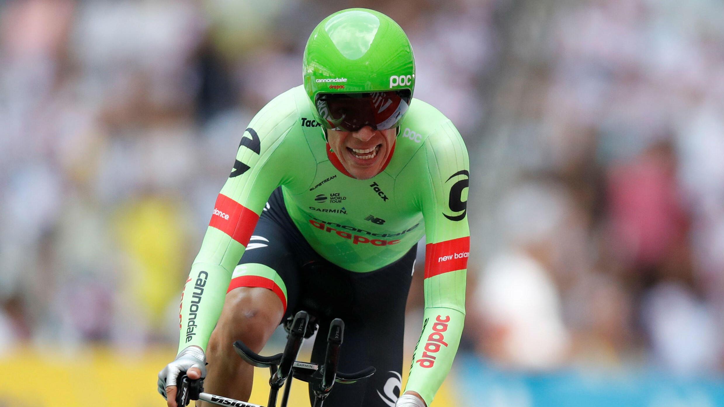 Imagen de archivo de Rigoberto Urán durante el Tour de Francia de 2017 en el que terminó como subcampeón.