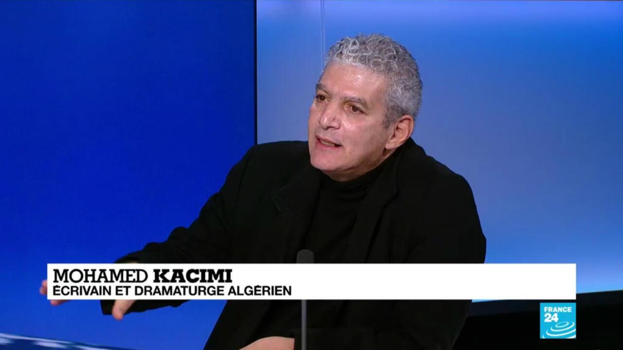 Mohamed Kacimi, écrivain et dramaturge algérien, sur le plateau de France 24.