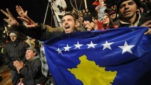 Kosovars celebrate the independence of Kosovo in Feburary 2008, but Serbia has since refused to recognise Kosovo's independence