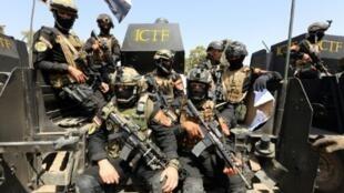 """عناصر من """"الفرقة الذهبية"""" (القوات الخاصة العراقية لمكافحة الإرهاب) في بغداد في 20 مارس 2016"""