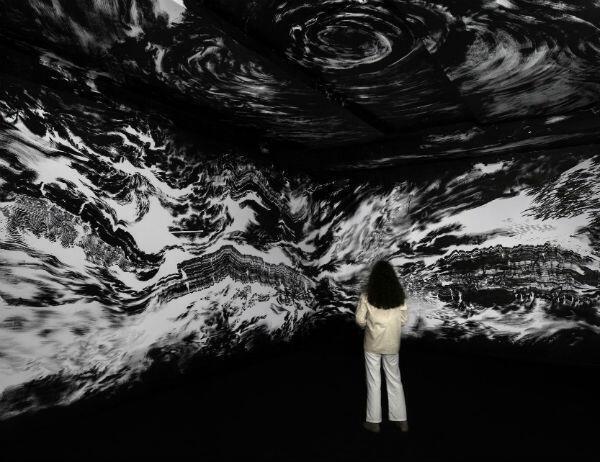 Abdelkader  Benchamman,  Neither  the  sky  nor  the  earth  -Biennale  de  Sharjah  2017©  Galerie  du  jour  agnès  b.  et  Isabelle  Van  Den  Eynde