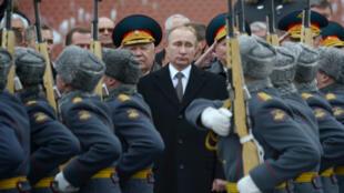 Le président russe Vladimir Poutine lors d'une cérémonie à Moscou le 23 février 2016.
