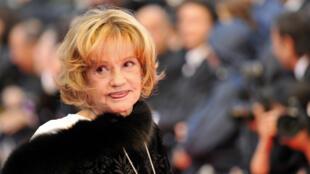 Jeanne Moreau au festival de Cannes, le 17 mai 2008.