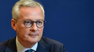 Le ministre de l'Economie Bruno Le Maire, le 19 mai 2020, au ministère de l'Economie à Paris