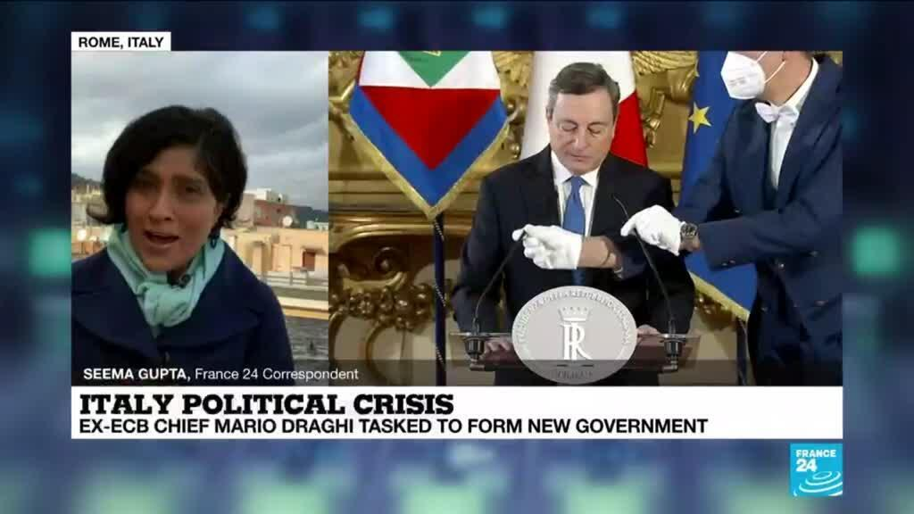 2021-02-03 14:04 Italy's Draghi accepts challenge to form government as parties hesitate