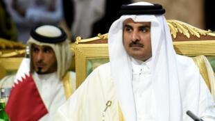 L'émir du Qatar, le cheikh Tamim ben Hamad al-Thani.