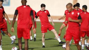 جانب من تدريبات المنتخب التونسي استعدادا لمباراة مالي 27 يونيو/حزيران مصر