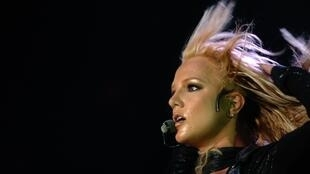Britney Spears performing in Lyon in May 2004, years before her highly publicized breakdown