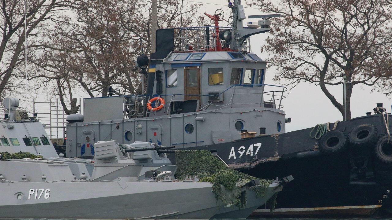 Le 25novembre, la Russie a capturé trois navires militaires ukrainiens avec 24marins à bord.
