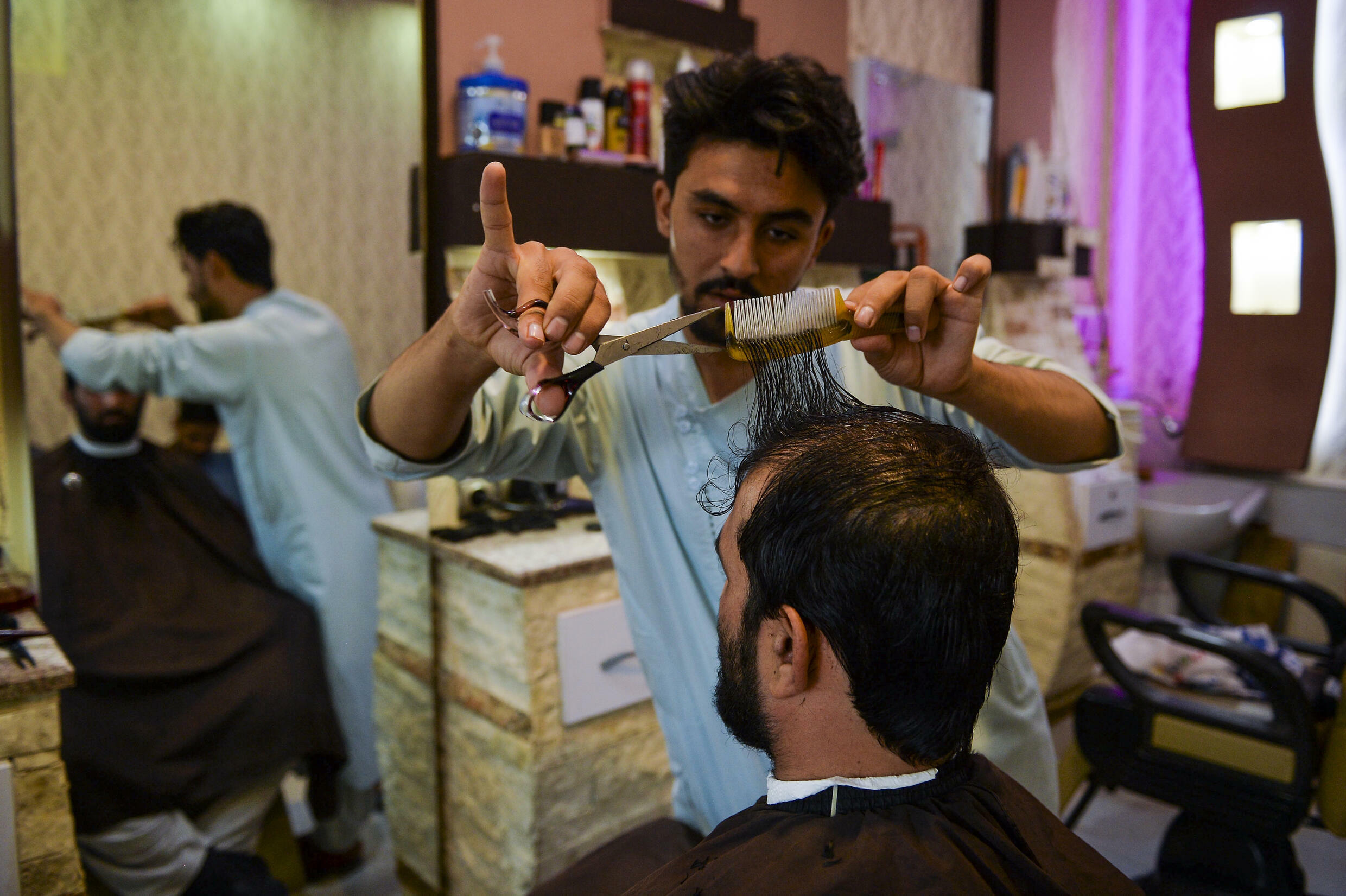 After the end of the Taliban's first term in power, being clean shaven was often seen as a sign of modernity