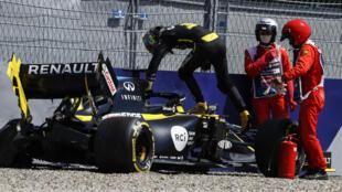 Ricciardo suffered a heavy crash in second practice