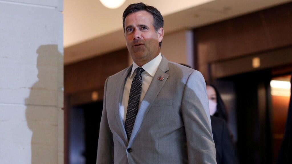 En la imagen aparece el director de Inteligencia Nacional (DNI) John Ratcliffe, encargado de denunciar las supuestas injerencias de Irán y Rusia en las elecciones de EE. UU. 2 de julio de 2020.