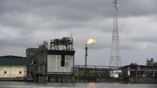 Une installation pétrolière à Batan Wanka, au Nigeria, exploitée par la compagnie américaine Chevron et la société nationale nigériane NNPC dans le delta du Niger (sud), le 26 mars 2018