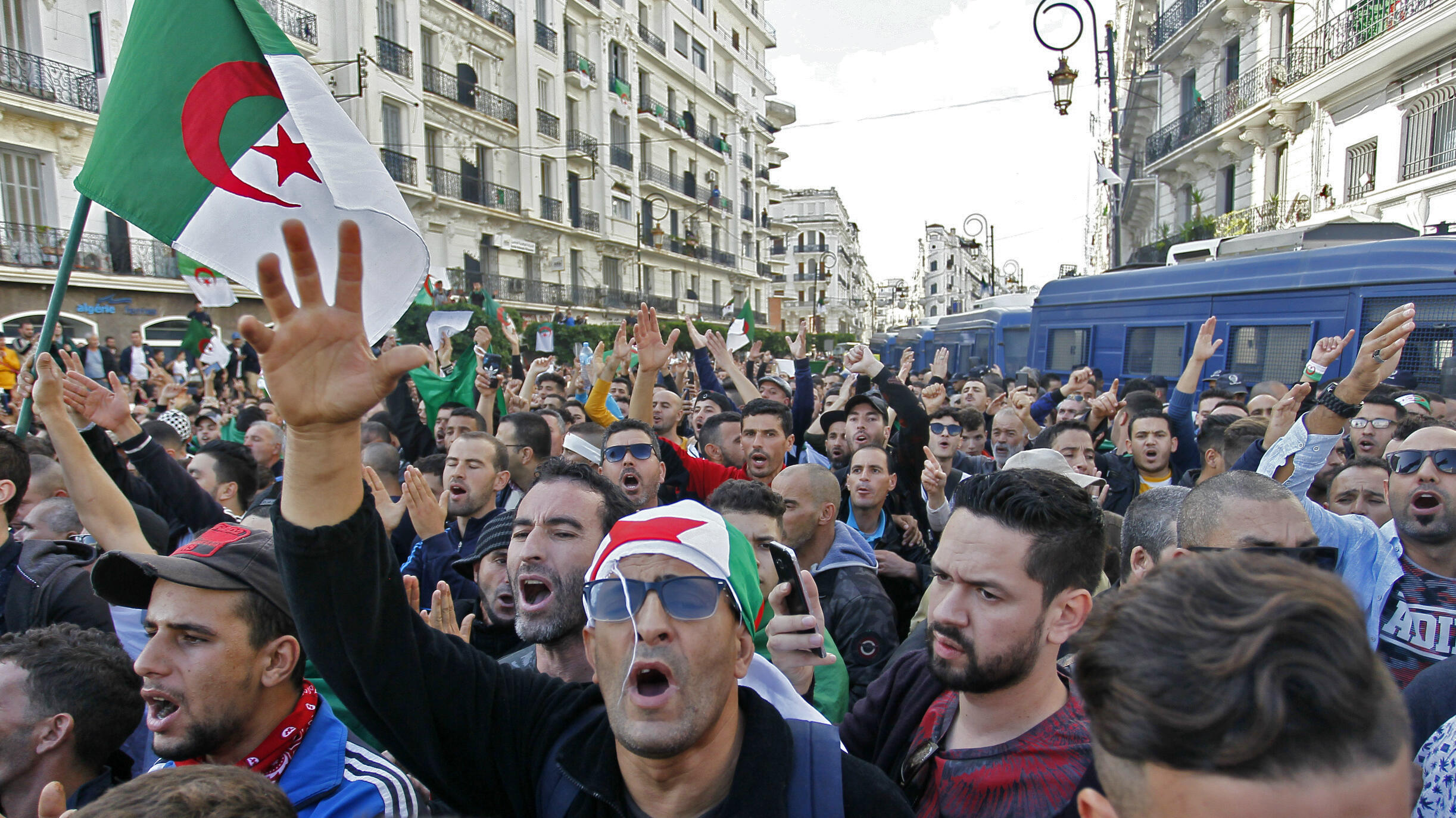 Algerian protests independence warnniversary