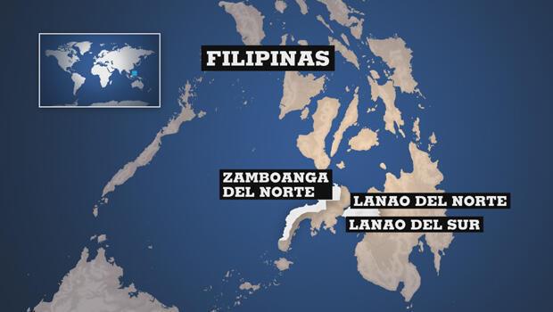 Zonas afectadas por el paso de la tormenta Tembin, en Filipinas.