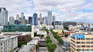 حي في مدينة لوس أنجليس بولاية كاليفورنيا الأميركية في 12 أيار/مايو 2020