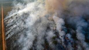 صورة جوية لحرائق غابات الأمازون، ولاية روندونيا، البرازيل،  23 أغسطس/ آب 2019