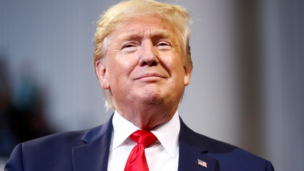El presidente estadounidense Donald Trump en Los Angeles, el 14 de noviembre de 2019.