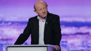 Jean-Luc Bennahmias, ex-député européen et candidat de l'Union des Démocrates et écologistes aux primaires initiées par le PS, lors du premier débat télévisé, le 12 janvier 2017.
