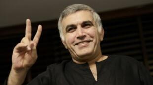 الناشط البحريني المعارض نبيل رجب في صورة له تعود إلى الثاني من تشرين الثاني/نوفمبر 2014
