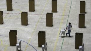 مركز انتخابي في كالي، كولومبيا، في 25 أيار/مايو 2018.