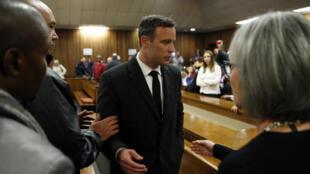 Oscar Pistorius au tribunal de Pretoria, le 6 juillet 2016.
