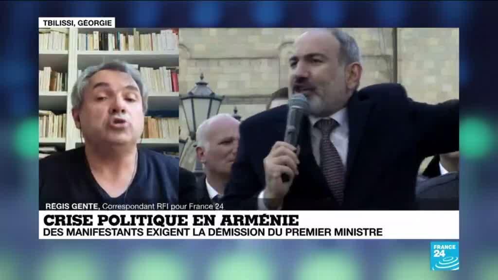2021-03-01 11:01 Crise politique en Arménie : des manifestent exigent la démission du Premier ministre