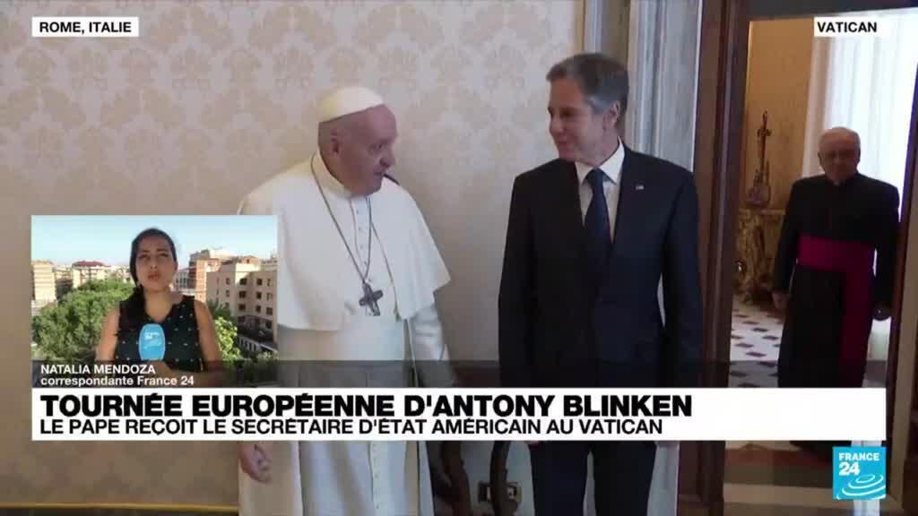 2021-06-28 18:06 Antony Blinken rencontre le pape François au Vatican