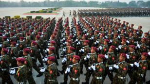 جنود من الجيش البورمي، 27 مارس/آذار 2019