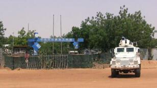 Un véhicule des forces de l'ONU à Gao, le 1er juin.